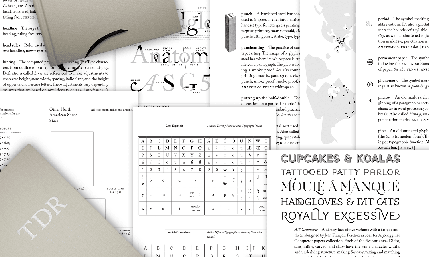 The Typographic Desk Reference, book and pages