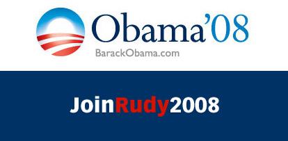 Obama'08 BarackObama.com, JoinRudy2008