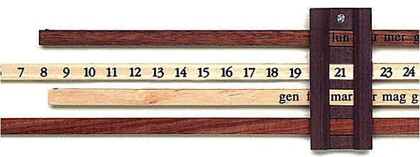 Calendario Enzo Mari.Enzo Mari Perpetual Calendar Glyphic