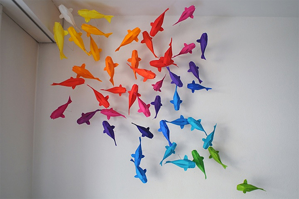 How Long Does An Installation Like The Colored Koi Fish One Take It Takes Me Around 1 3 Months To Complete Of That Nature