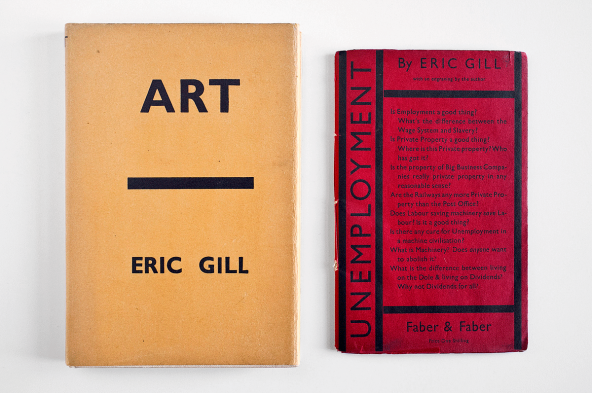 Art and Unemployment, both by Eric Gill