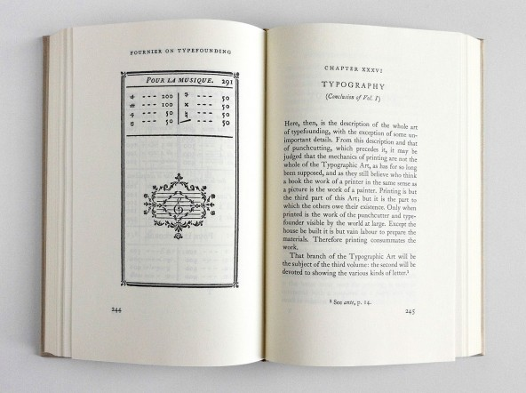 Fournier's Manuel Typographique, translation by Harry Carter, introduction by James Mosley