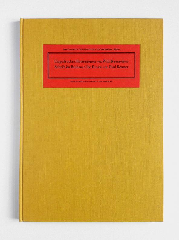 Monographien und Materialien zur Buchkunst, Band 2 by Verlag Wolfgang Tiessen