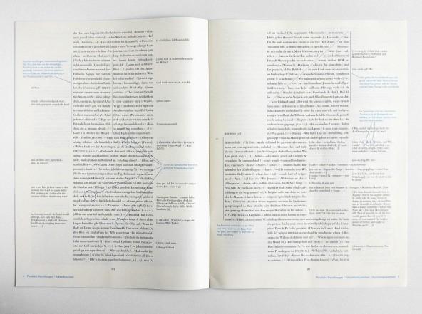 Leaflet promoting Friedrich Forssman's typesetting Zettel's Traum