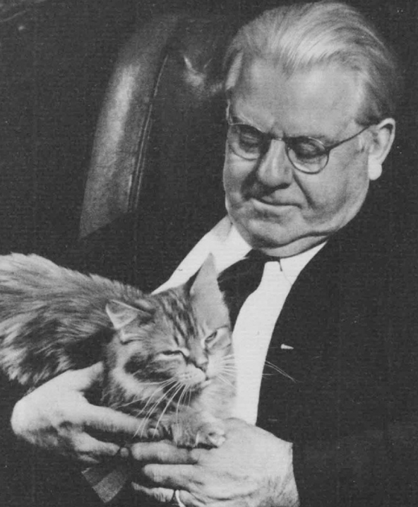 Photo of Frederic Goudy with Cat