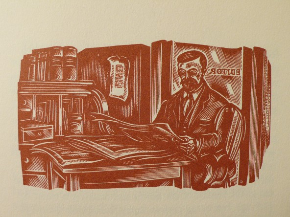 Woodcut by John DePol