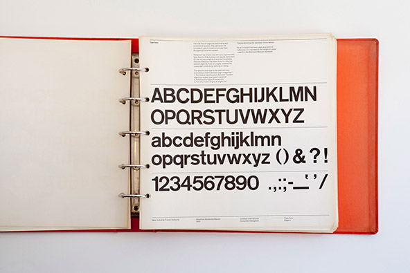 The New York City Transit Authority style guide defines the use of the Basic Commercial typeface