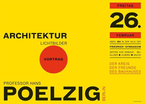 FF Bau Poster after Herbert Bauer set by Christian Schwartz for Made with FontFont book