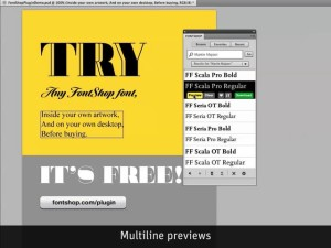 Preview FontShop fonts directly in your Photoshop comps